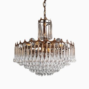 Murano Glass & Crystal Chandelier, 1950s