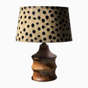 Braune Tischlampe aus Keramik von Bruno Karlsson für Ego Stengods, 1960er