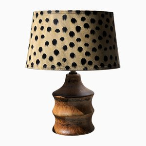 Brown Ceramic Table Lamp by Bruno Karlsson for Ego Stengods, 1960s