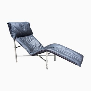 Leather & Chrome Skye Chaise Lounge by Tord Bjorklund for Ikea, 1970s