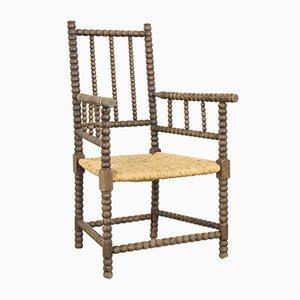 Antiker niederländischer Armlehnstuhl aus Holz