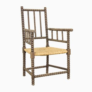 Antique Dutch Wooden Armchair