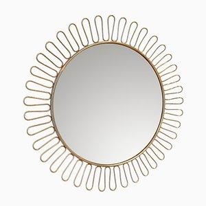 Mid-Century Scandinavian Sunburst Mirror, 1950s
