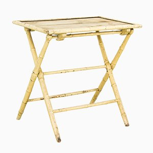 Vintage Bamboo Console Table