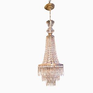 Lámpara de araña Sac a Pearl Imperio, años 30