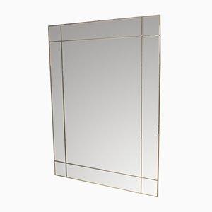 Espejo vintage rectangular, años 70