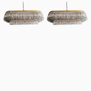 Plafonnier Crystal Chandelier, Set of 2