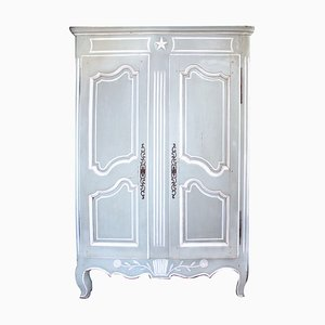 Antique French Painted Oak Armoire