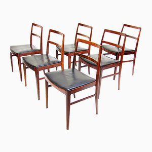 Danish Rosewood 430 Dining Chairs by Arne Vodder for Sibast, 1960s, Set of 6