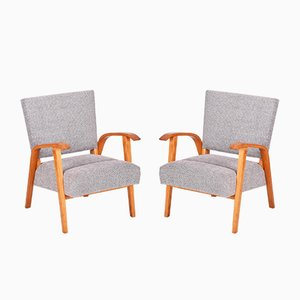 Czech Armchairs, 1940s, Set of 2