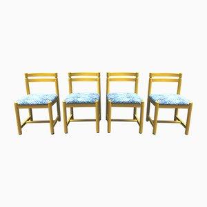 Finnische Holzstühle von Asko, 1970er, 4er Set