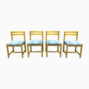 Finnish Wood Chairs from Asko, 1970s, Set of 4