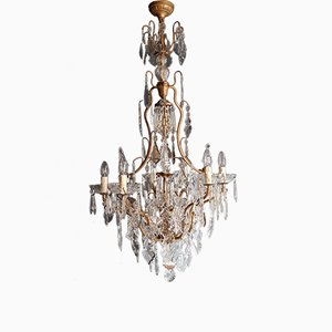 French Crystal Chandelier, 1930s