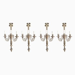 Vintage Baroque Style Candlestick Wall Sconces, 1930s, Set of 4