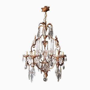 Art Nouveau Crystal Chandelier