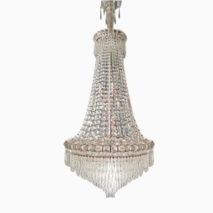 Art Deco Crystal Chandelier, 1930s