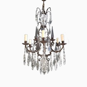 Art Nouveau Style French Crystal Chandelier, 1930s
