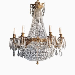 Vintage Montgolfiè Empire Style Sac a Pearl Crystal Chandelier