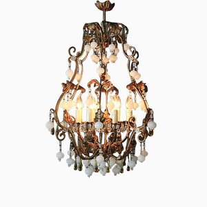 Special Murano Crystal Chandelier, 1930s