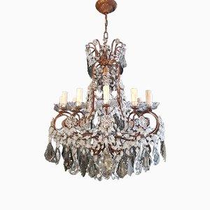 Art Nouveau Style Florentiner Crystal Chandelier,1930s