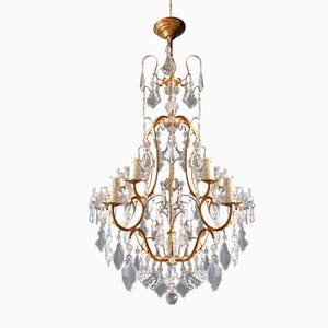 Antique Crystal Chandelier, 1930s