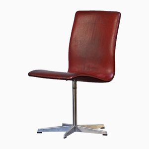 Danish Oxford Swivel Chair by Arne Jacobsen for Fritz Hansen, 1967