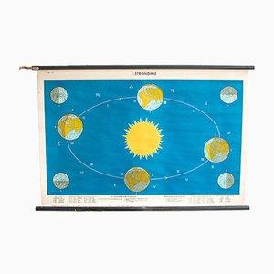 Affiche d'Astronomie Mid-Century par N. Ringström pour Dr. Teneues, 1960s