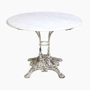 Tavolo da giardino con ripiano in marmo di E.W. Depose, Francia, inizio XX secolo