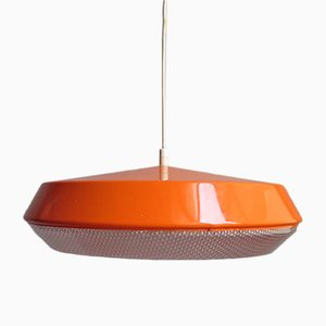 Vintage Orange Pendant Lamp, 1980s