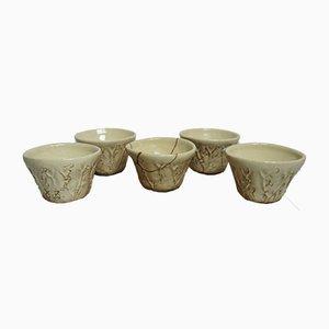 Antikes Ochoko Geschirrset aus Keramik von Otagaki Rengetsu