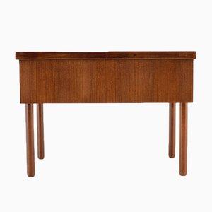Mueble de costura Mid-Century de teca, años 60