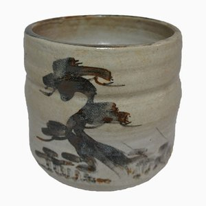 Japanese Ceramic Shino Cachepot, 1950s