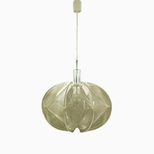German Nylon and Perspex Ceiling Lamp by Paul Secon for Sompex, 1970s