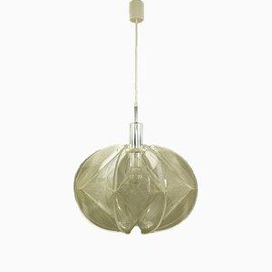 Lampada da soffitto in nylon e perspex di Paul Secon per Sompex, Germania, anni '70