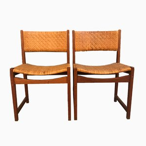 Model 350 Dining Chairs by Peter Hvidt & Orla Mølgaard-Nielsen for Søborg Møbelfabrik, 1960s, Set of 2