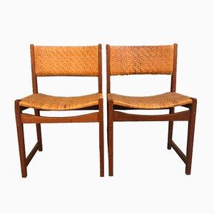 Modell 350 Esszimmerstühle von Peter Hvidt & Orla Mølgaard-Nielsen für Søborg Møbelfabrik, 1960er, 2er Set