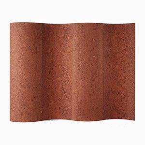 Terracotta Elm Burl Veneer Room Divider by Daniel Nikolovski & Danu Chirinciuc for KABINET, 2019