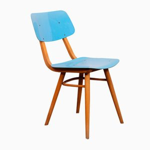 Wooden Dining Chairs from TON, 1970s, Set of 4