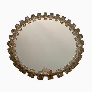 Deutscher Mid-Century Spiegel mit Rahmen aus Kristallglas & Harz