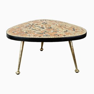 Mid-Century Mosaic Tripod Side Table, 1950s