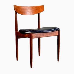 Sedie da pranzo in pelle anilina e afrormosia di Ib Kofod Larsen per G-Plan, anni '60, set di 4