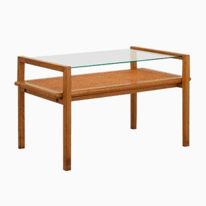 French Oak Coffee Table by Suzanne Guiguichon for Rozier, 1957