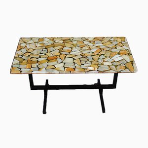 Italian Brass and Marble Coffee Table, 1970s