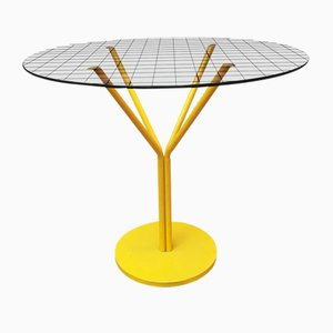 Glass and Metal Dining Table from Driade, 1970s