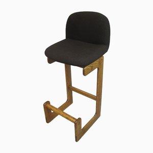 Vintage German Oak Bar Chairs from Brune, 1970s, Set of 3