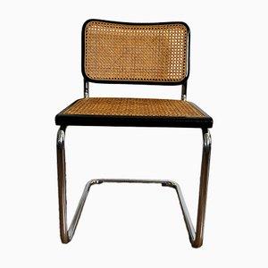 Sedie da pranzo in faggio, metallo cromato e legno di Marcel Breuer, Italia, anni '60, set di 4