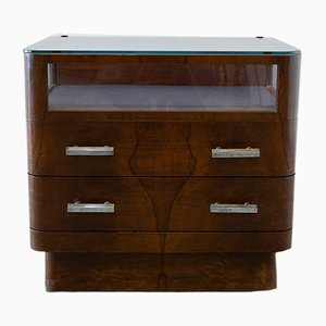 Art Deco Walnut Nightstand by Cervigon, 1930s
