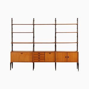 Teak Wall Unit by Louis van Teeffelen for WéBé, 1960s