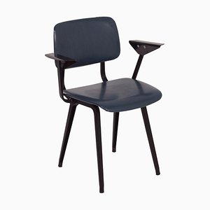Dark Blue Revolt Chair by Friso Kramer for Ahrend De Cirkel, 1966