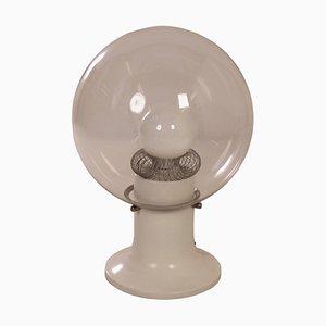 Lámpara de mesa de vidrio, años 70